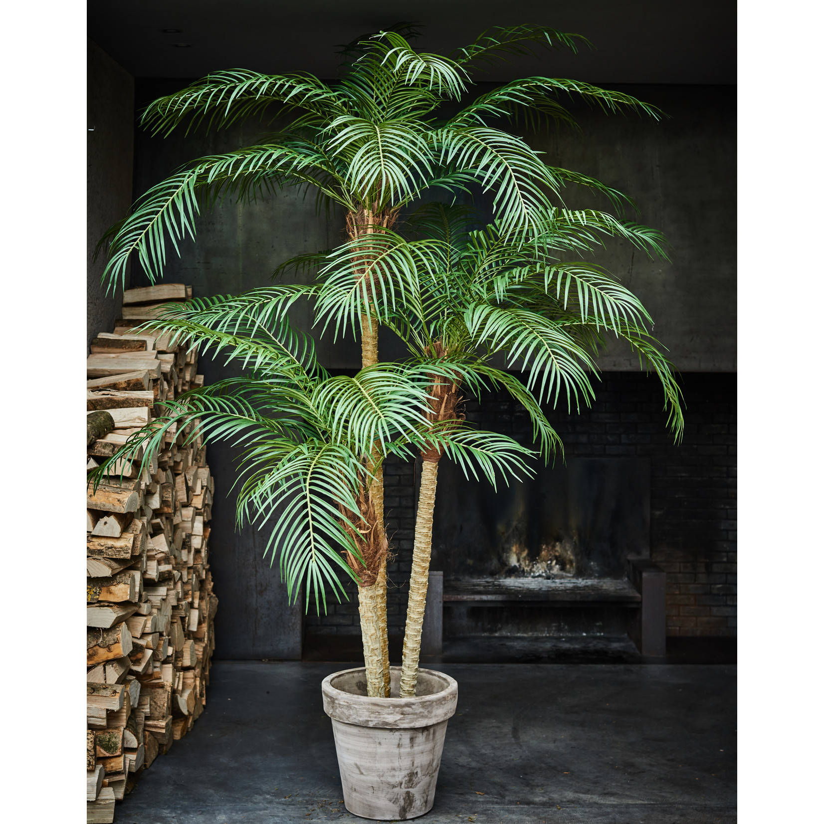 Silk-ka Palm Green   183 cm