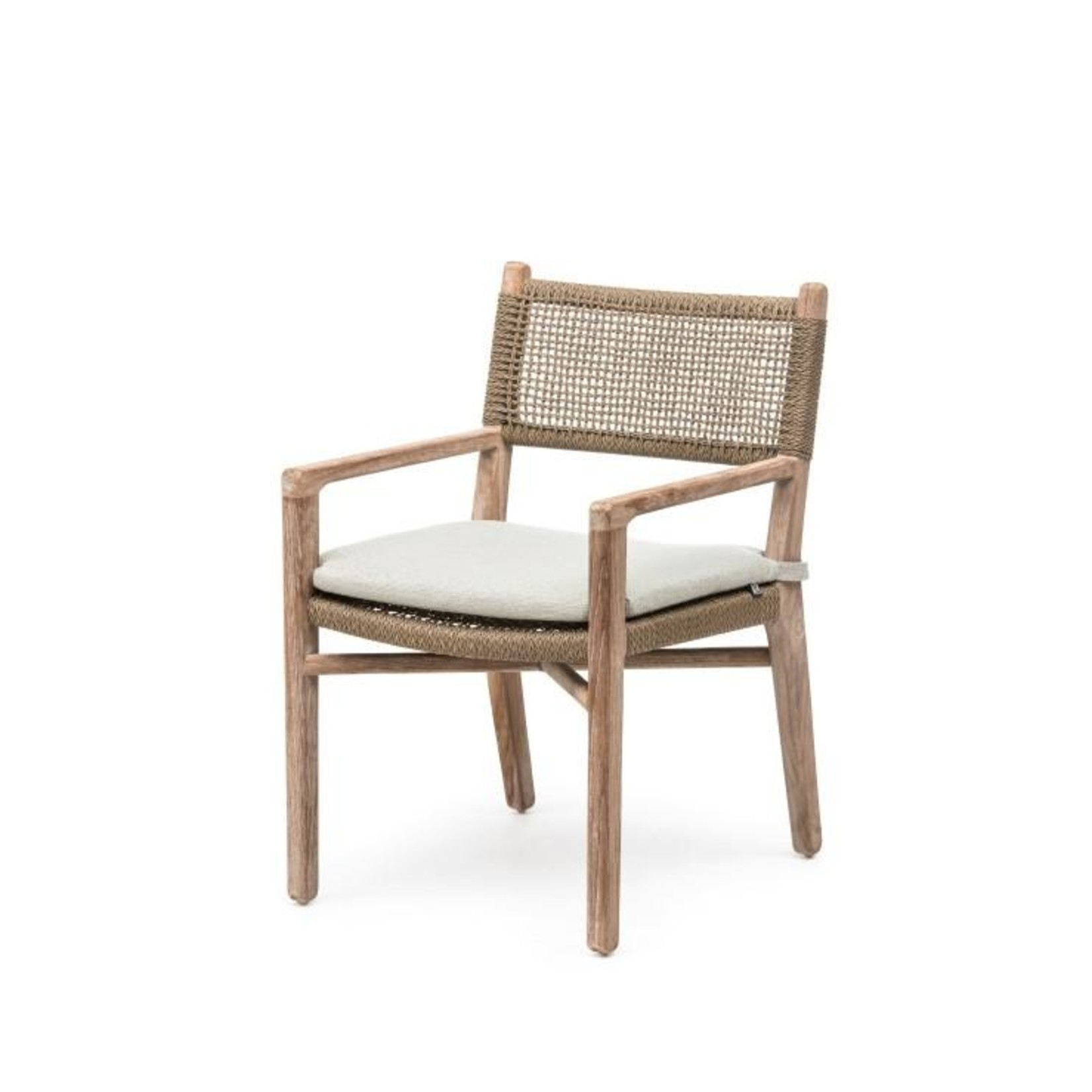Gommaire Armchair Fiona | Teak Natural Grey / PE Wicker Antique Weed