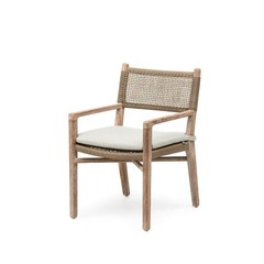 Gommaire Armchair Fiona | Teak Natural Gray & PE Wicker Antique Weed