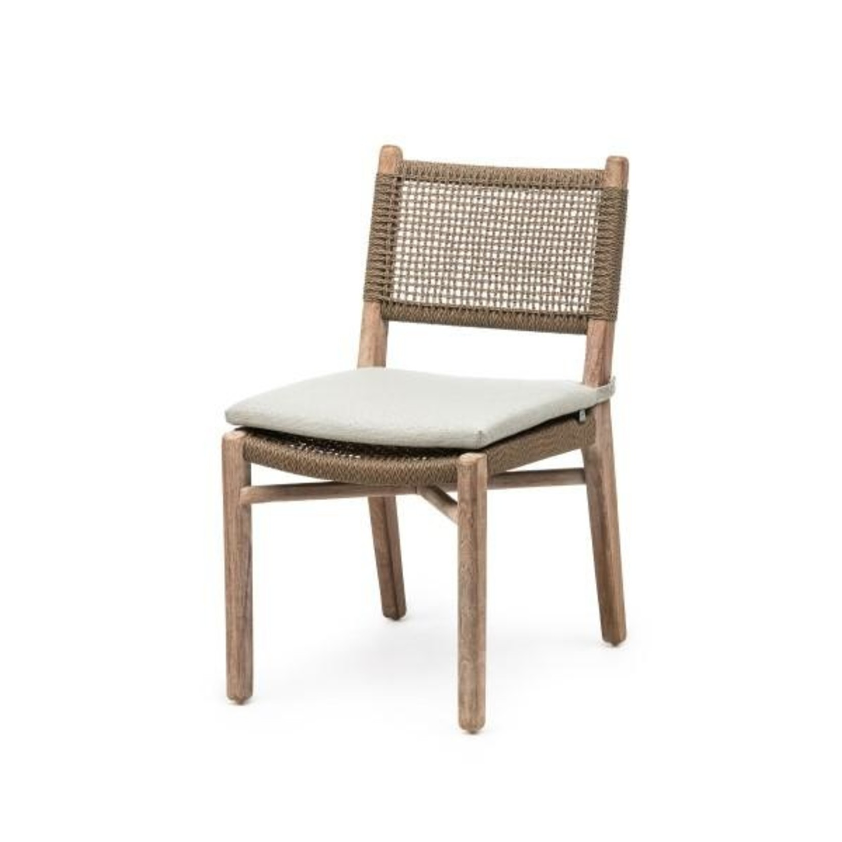 Gommaire Chair Fiona | Teak Natural Grey / PE Wicker Antique Weed