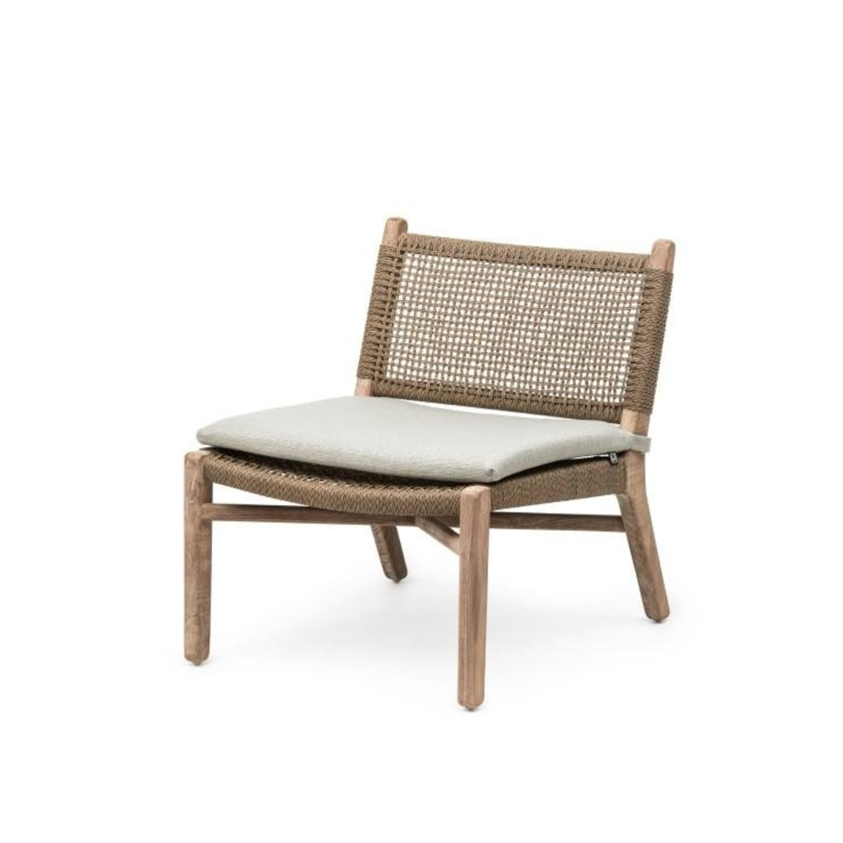 Gommaire Easy Chair Fiona   Teak Natural Gray / PE Wicker Antique Weed