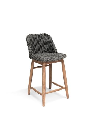 Gommaire Barchair Sienna | Reclaimed Teak Natural Gray & PE Wicker Charcoal