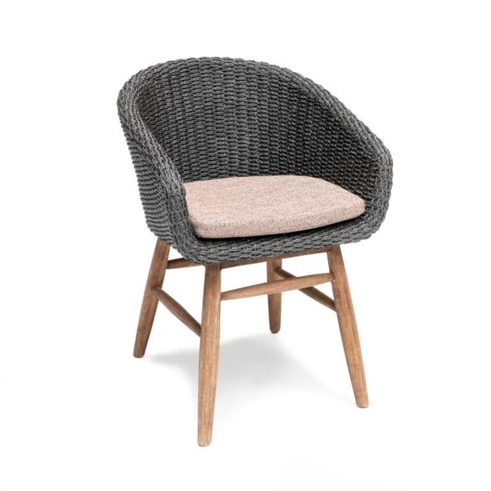 Gommaire Armchair Charly | Reclaimed Teak Natural Gray / PE Wicker Espresso