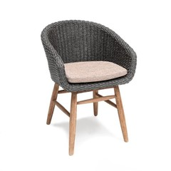 Gommaire Armchair Charly | Reclaimed Teak Natural Gray & PE Wicker Espresso