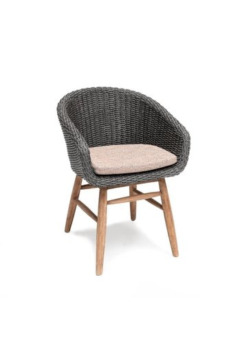 Gommaire Armchair Charly | Reclaimed Teak Natural Grey / PE Wicker Espresso