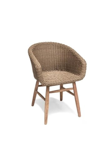 Gommaire Fauteuil Charly | Reclaimed Teak Natural Grey / PE Wicker Antique Weed