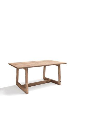 Gommaire Table rectangulaire Dennis Small | Teck récupéré gris naturel