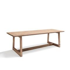 Gommaire Table rectangulaire Dennis Large   Teck récupéré gris naturel