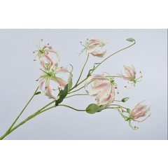 Silk-ka Branche Gloriosa Rose / Blanc | 110 cm