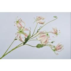 Silk-ka Gloriosa Tak Roze/Wit  | 110 cm