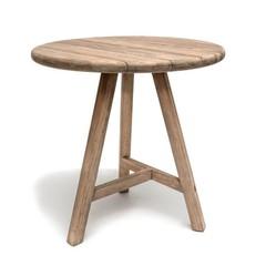 Gommaire Table de bar ronde Anton | Teck récupéré gris naturel