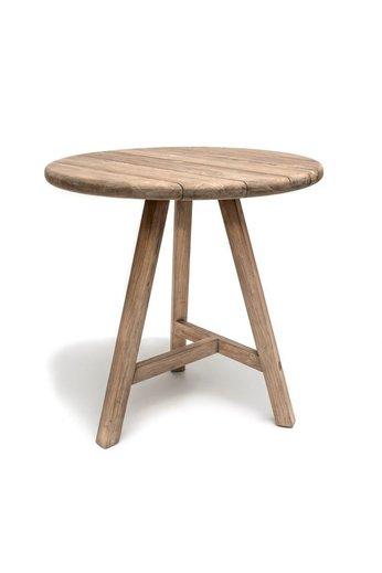 Gommaire Table de bar ronde Anton | Teak récupéré gris naturel