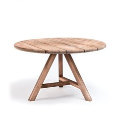 Gommaire Round Table Anton Small Outdoor | Reclaimed Teak Natural Gray