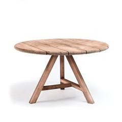 Gommaire Table ronde Anton Small Outdoor | Teak récupéré gris naturel