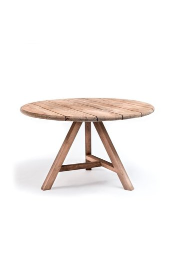 Gommaire Round Table Anton Small Outdoor | Reclaimed Teak Natural Grey