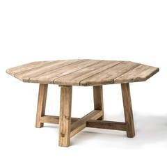 Gommaire Octagon Table Harry | Reclaimed Teak Natural Gray
