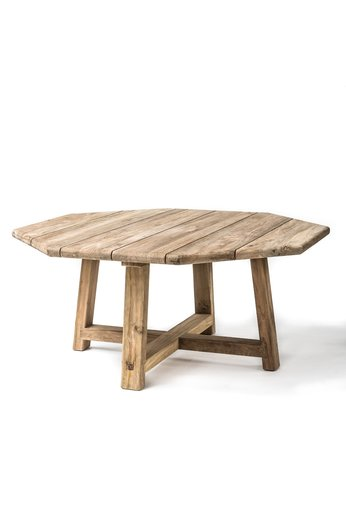 Gommaire Octagon Table Harry | Reclaimed Teak Natural Grey