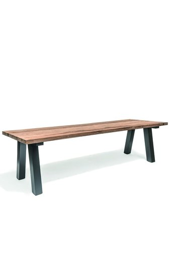 Gommaire Table Antica Large Outdoor | Reclaimed Teak Natural Grey & Aluminium Black Mat