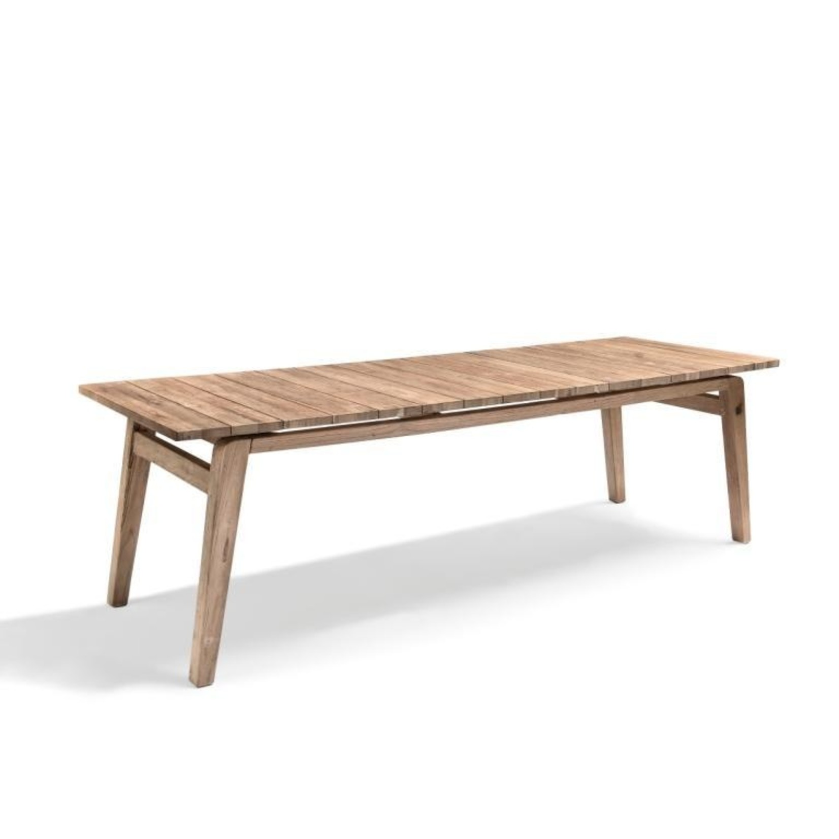 Gommaire Table Copenhague   Teck récupéré gris naturel