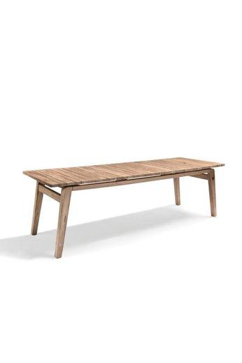 Gommaire Table Copenhague | Teck récupéré gris naturel