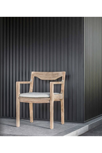 Gommaire Armchair Curve | Reclaimed Teak Natural Gray