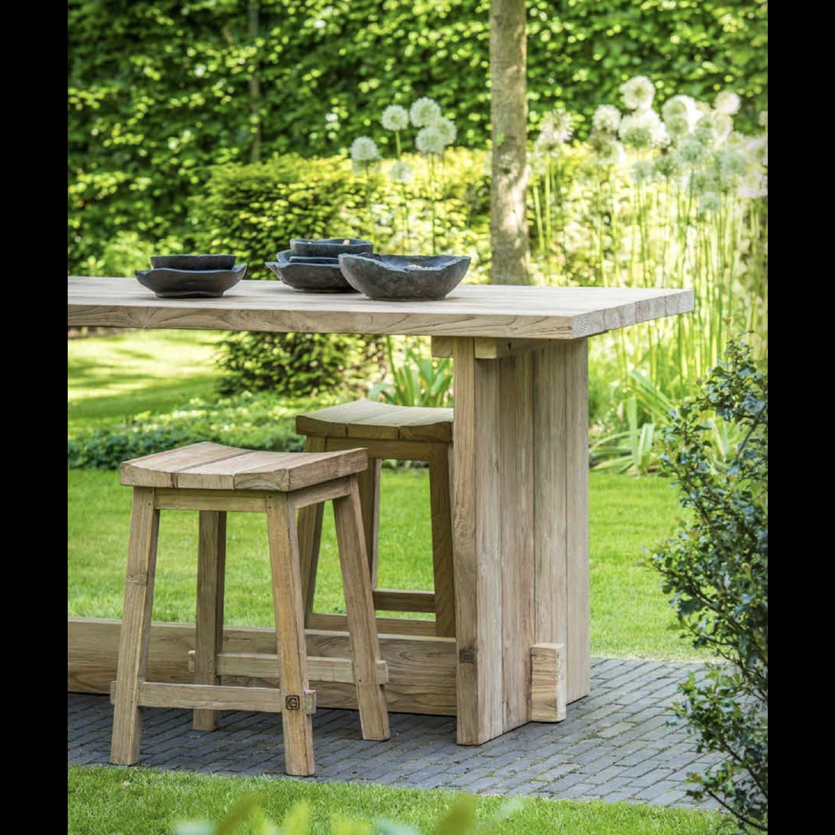 Gommaire Table de bar Alexi Large | Teck récupéré gris naturel