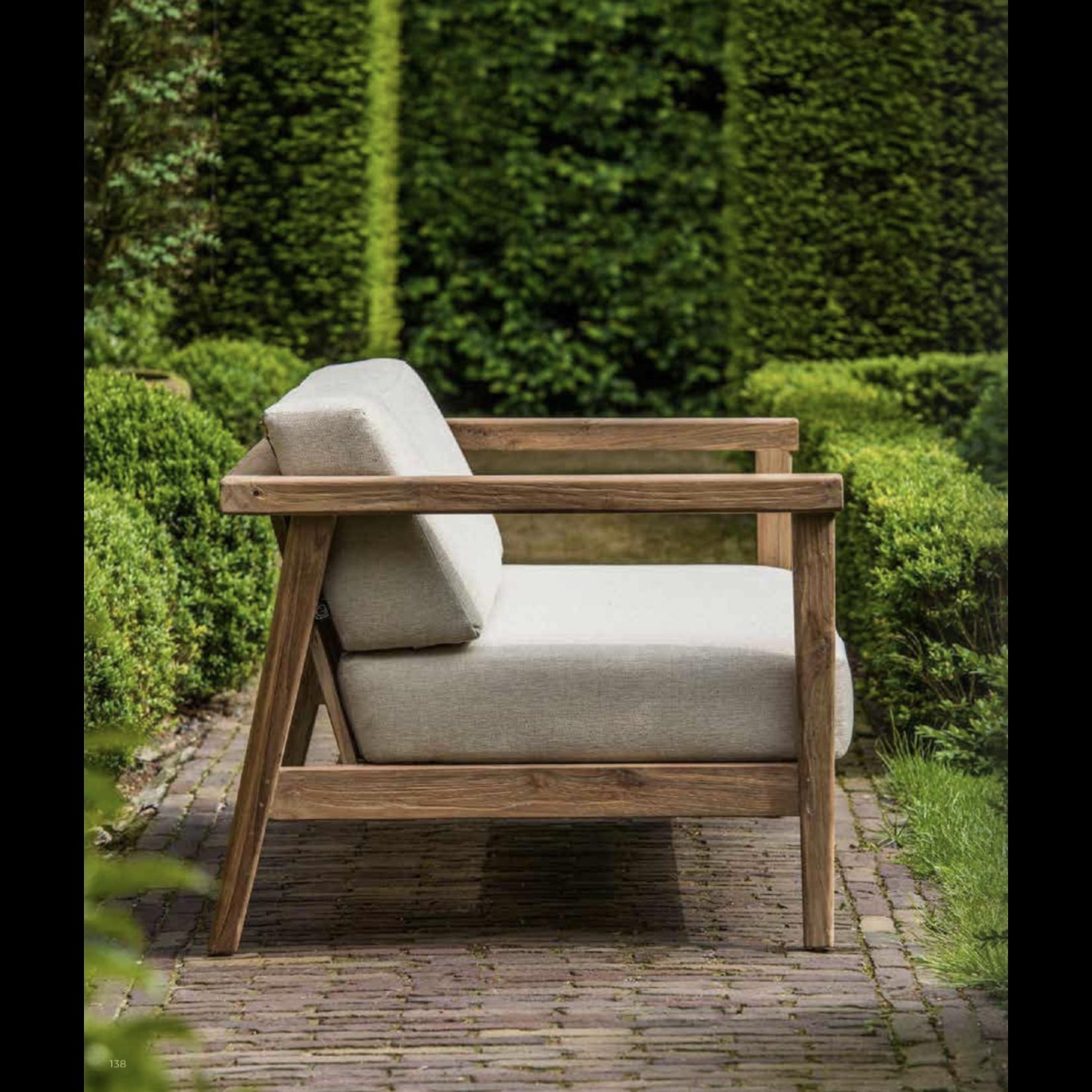 Gommaire 2-Seater Copenhague | Reclaimed Teak Natural Gray + Cushion