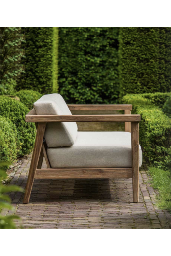 Gommaire 2-Seater Copenhague | Reclaimed Teak Natural Grey + Cushion