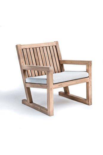 Gommaire Petit fauteuil Alan   Teak récupéré gris naturel