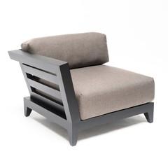 Gommaire Right Corner Mia | Aluminium Black Mat + Cushion