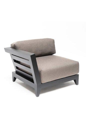 Gommaire Right Corner Mia | Aluminum Black Mat + Cushion