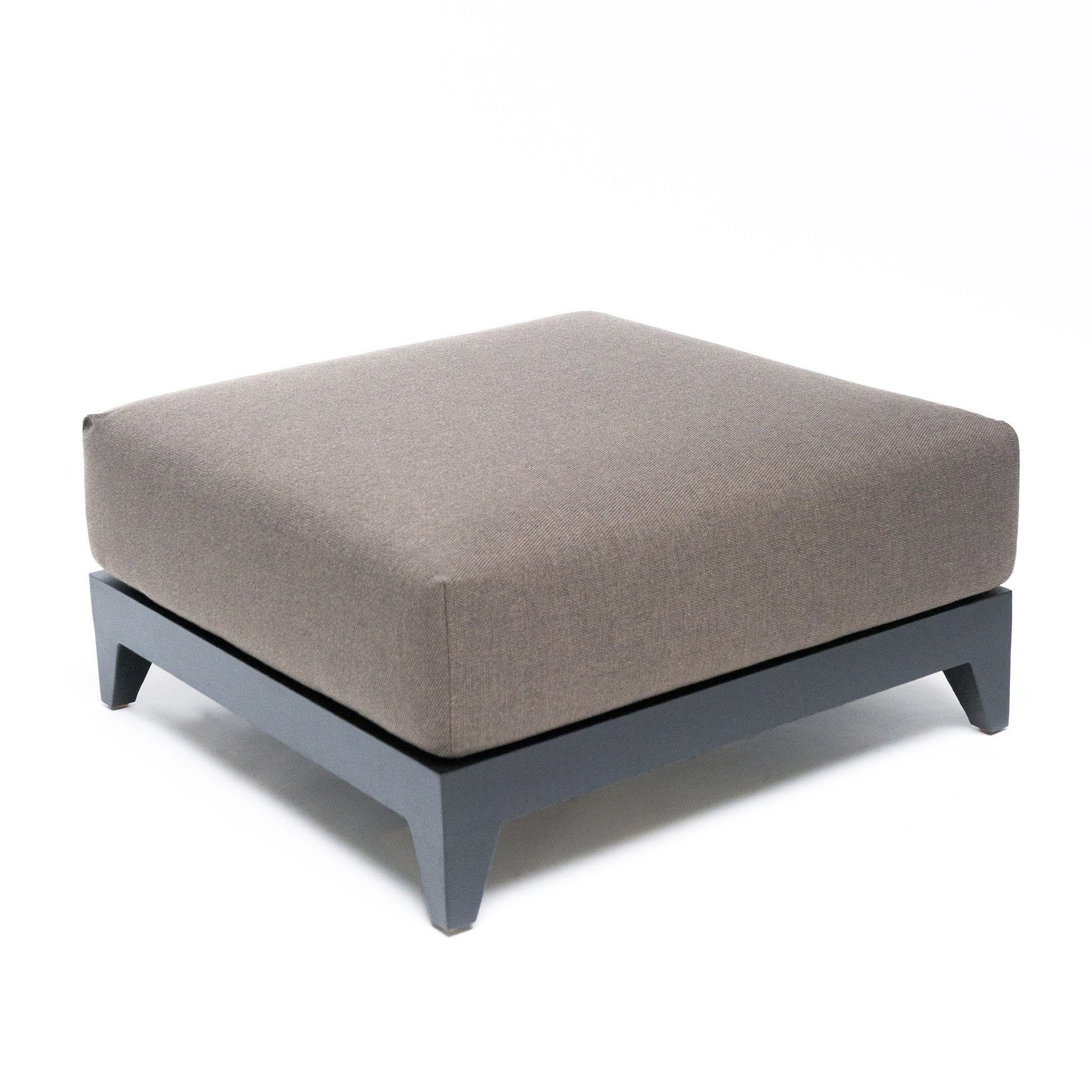 Gommaire Ottoman Mia | Aluminum Matte Black + Cushion