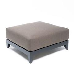 Gommaire Ottoman Mia | Aluminium noir mat
