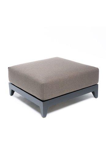 Gommaire Ottoman Mia   Aluminium Black Mat + Cushion