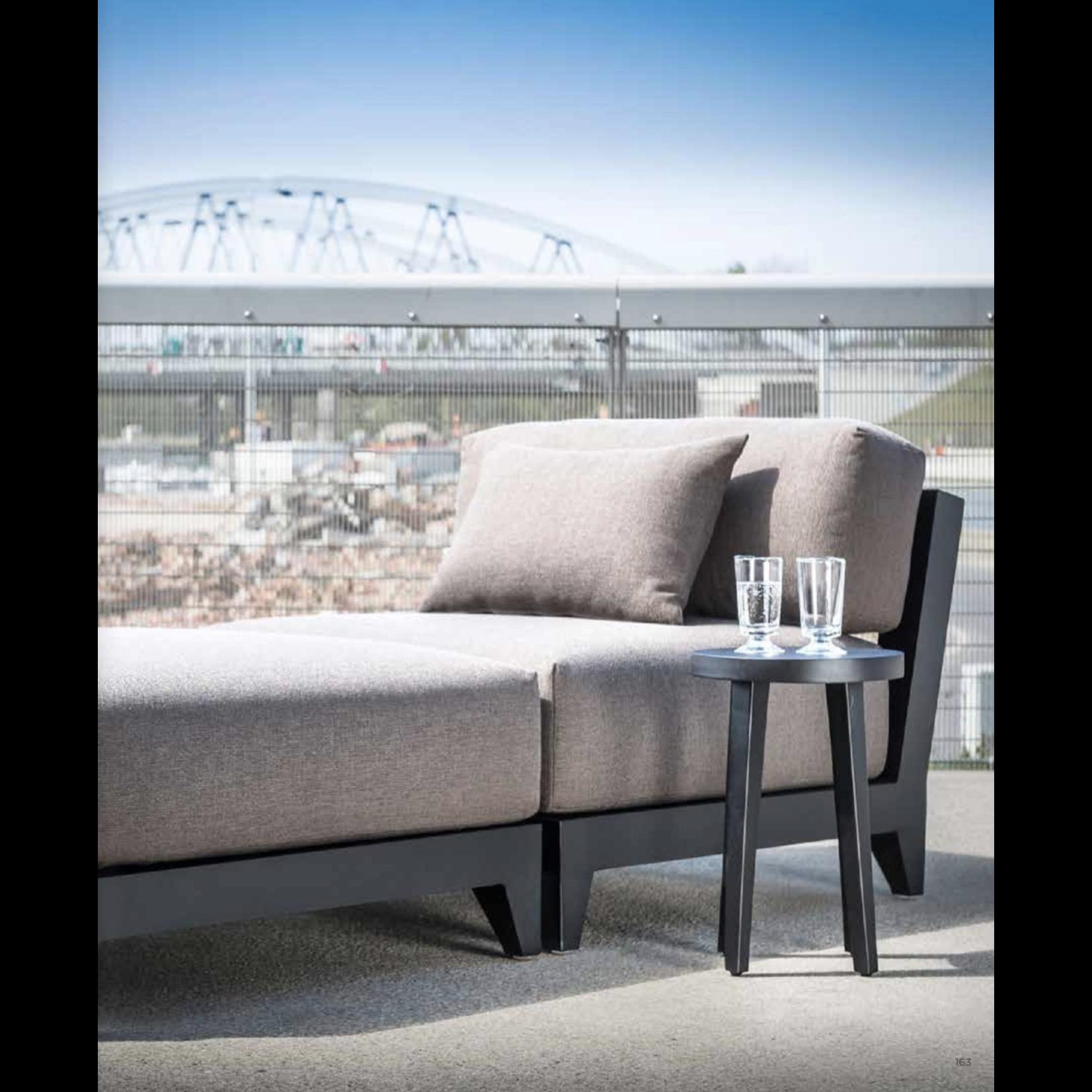 Gommaire Center Mia | Aluminum Matte Black + Cushion