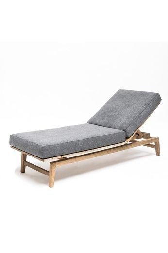 Gommaire Chaise longue Copenhague   Reclaimed Teak Natural Grey + Coussin