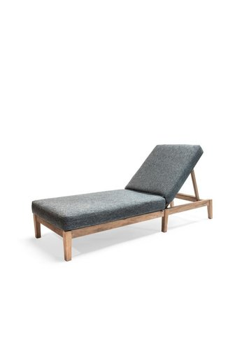 Gommaire Sunny Bed Copenhague | Reclaimed Teak Natural Grey + Cushion