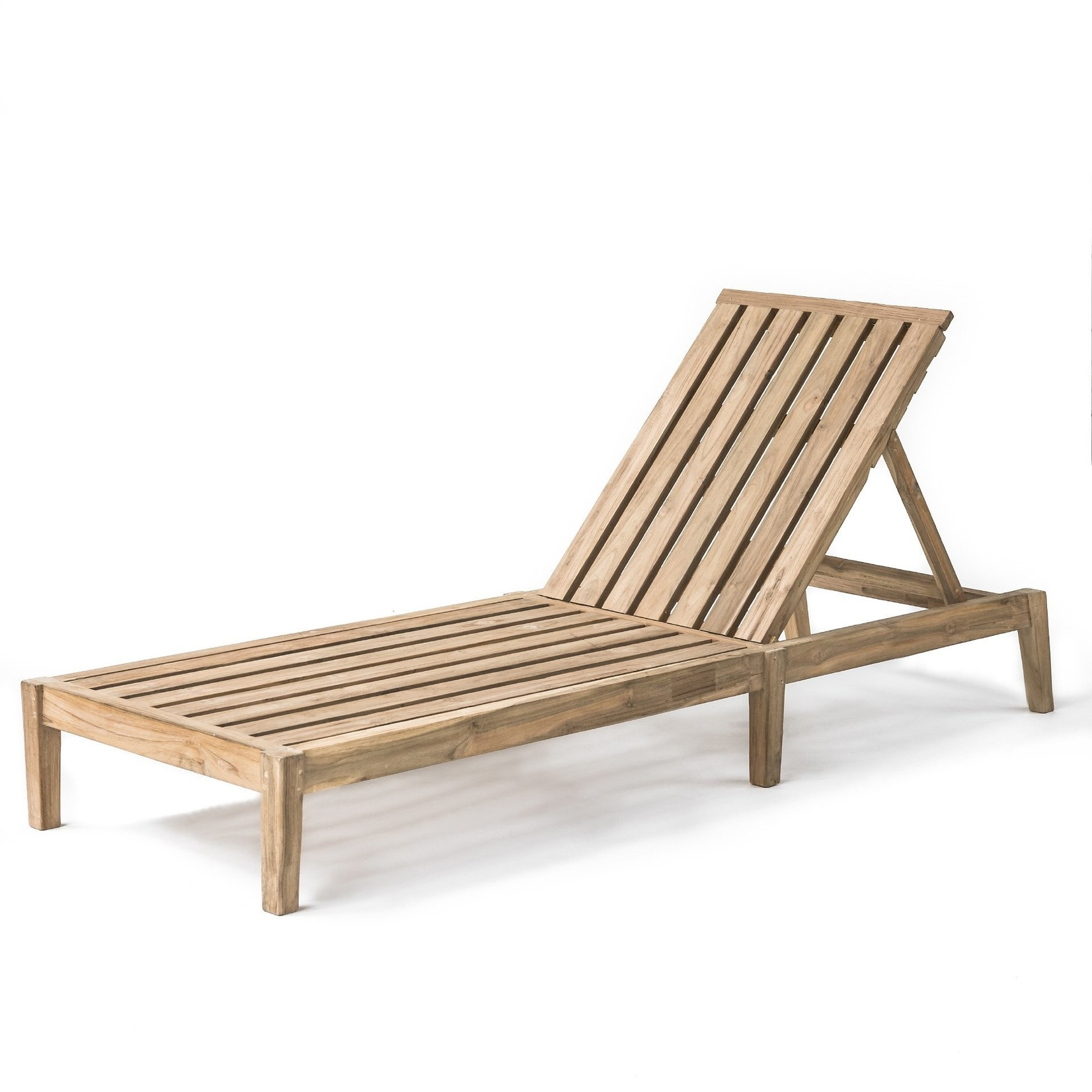 Gommaire Sunny Bed Copenhague | Reclaimed Teak Natural Grey + Cushion