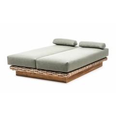 Gommaire Daybed Yasmin   CL Rotin + Coussin