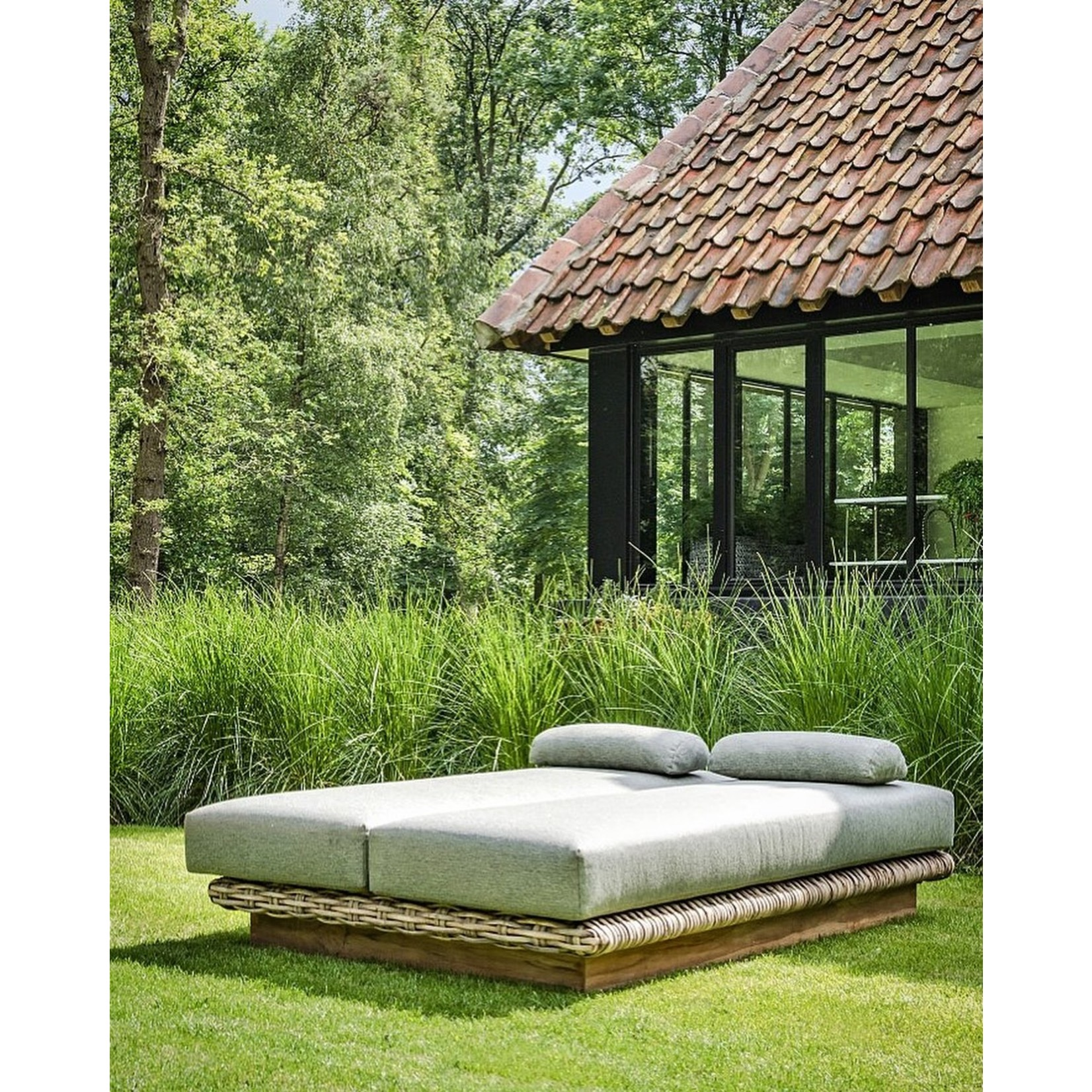 Gommaire Daybed Yasmin | CL Rotin + Coussin