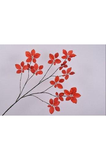 Silk-ka Branche de feuille Orange | 132 cm
