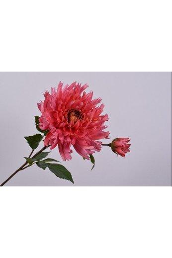 Silk-ka Beauté en acier au chrysanthème | 78 cm