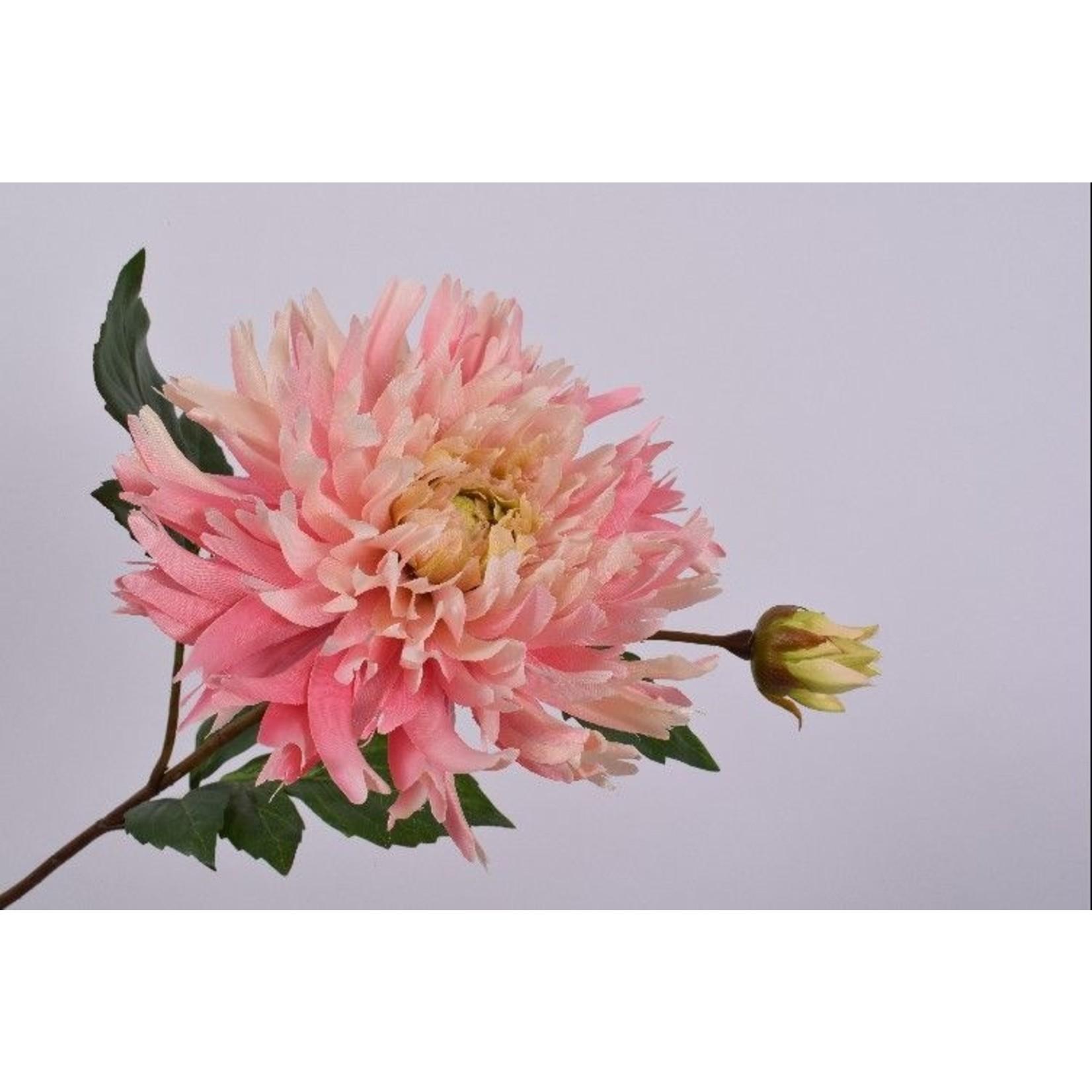 Silk-ka Chrysanthème rose acier | 78 cm