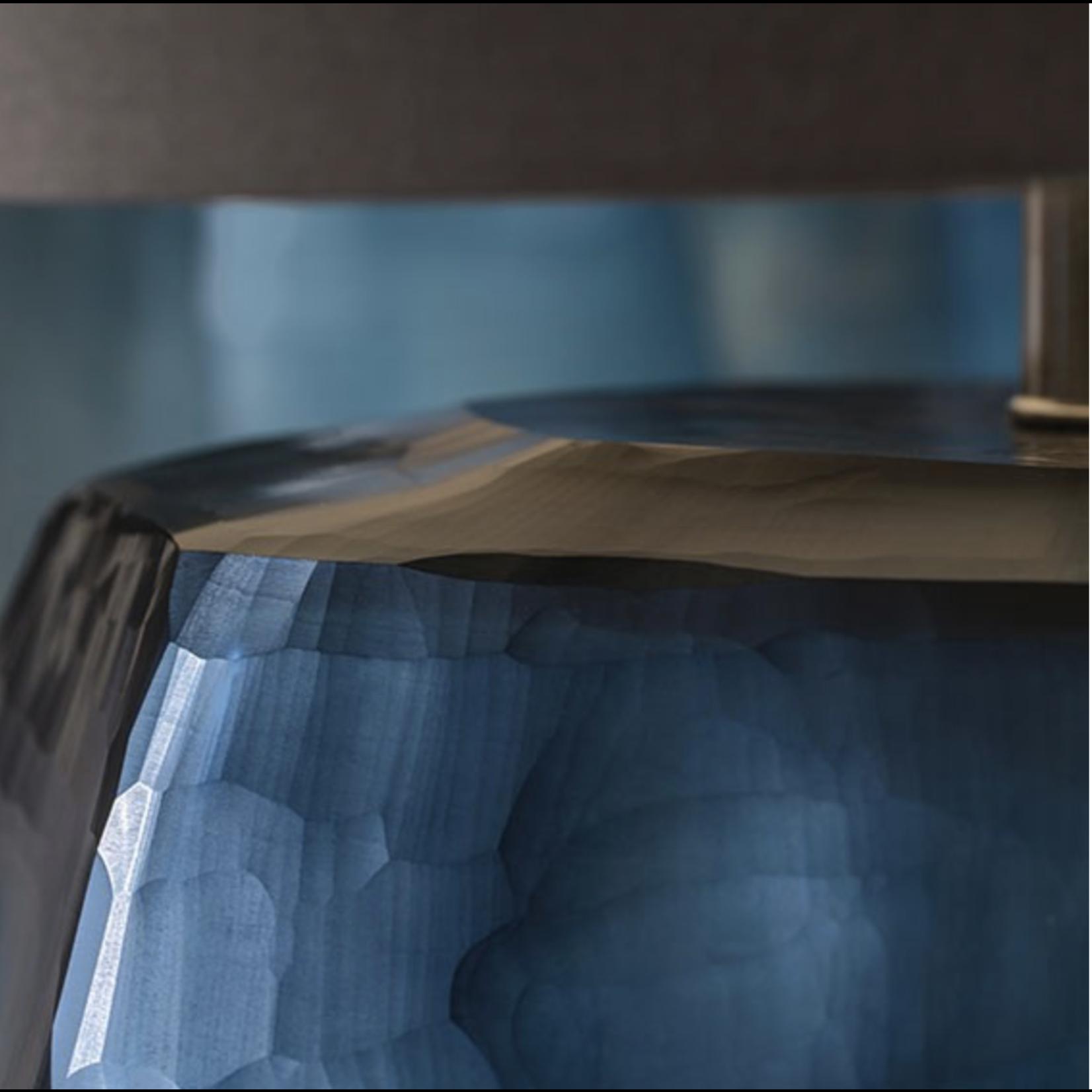 Guaxs Table lamp Cubistic Tall | Ocean Blue / Indigo