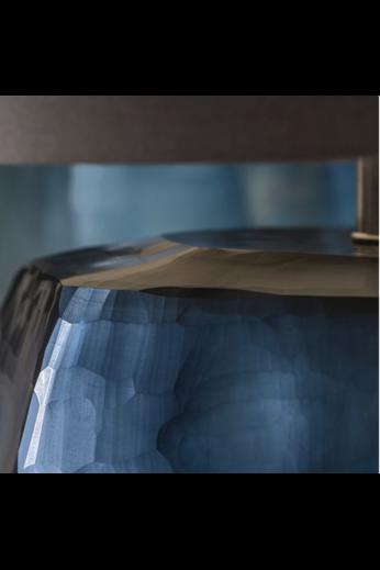 Guaxs Lampe de table Cubistic Tall | Bleu océan / Indigo