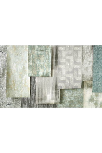 Villa Nova Renzo Wallcoverings | Renzo Teal