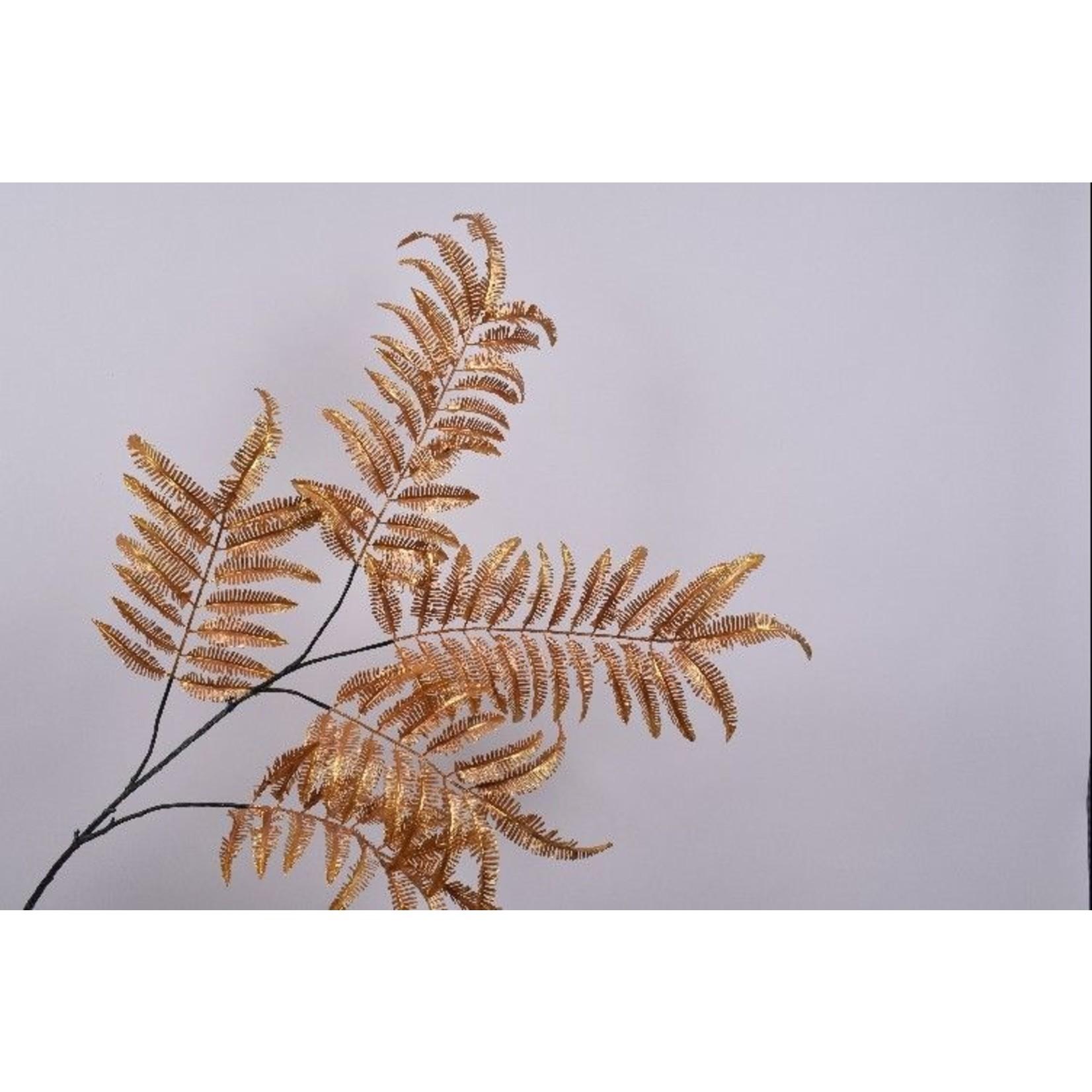 Silk-ka Feuille Branche Fougère Or / Ora | 195 cm