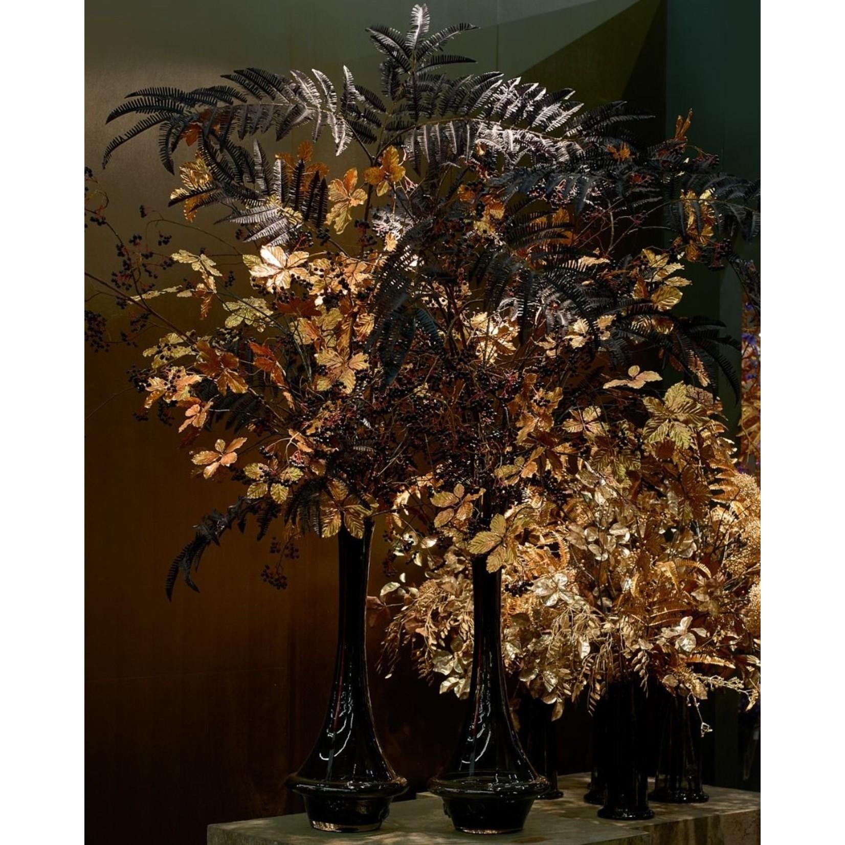 Silk-ka Leaf Branch Fern Black   195 cm