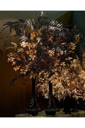 Silk-ka Bladtak Varen Zwart  | 195 cm