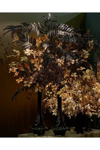 Silk-ka Leaf Branch Fern Black | 195 cm